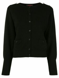 Caban pull tab cardigan - Black