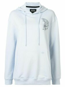 Markus Lupfer giraffe print hoodie - Blue