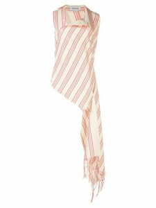 Monse asymmetric striped shirt - NEUTRALS