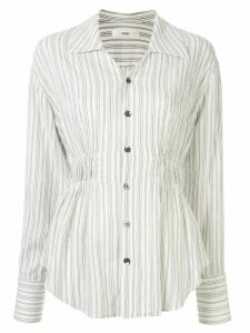 G.V.G.V. crinkled striped blouse - White