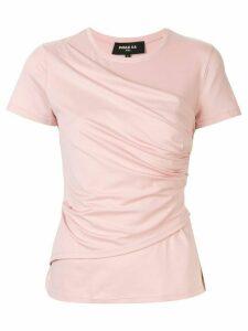 Paule Ka draped front T-shirt - PINK