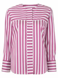 Tomorrowland striped poplin shirt - PINK