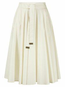 Peserico flared tie-waist skirt - NEUTRALS