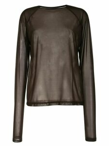 G.V.G.V. loose fit sheer top - Brown