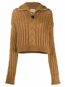Nanushka Eria cable knit jumper - Brown