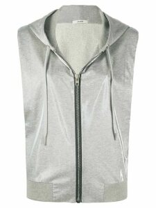 Zilver reflective sleeveless hoodie - Grey