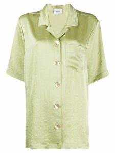 Nanushka Ella satin shirt - Green
