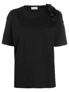 RedValentino tie detail T-shirt - Black