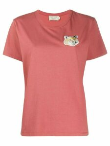 Maison Kitsuné fox-patch T-shirt - PINK