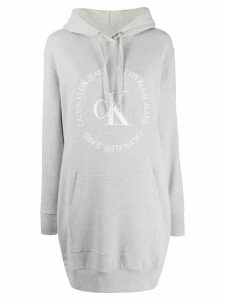 Calvin Klein Jeans hooded logo jumper dress - Grey