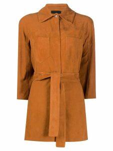 Drome belted shirt jacket - Brown