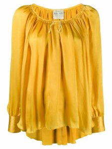Forte Forte drawstring neck loose-fit blouse - Yellow