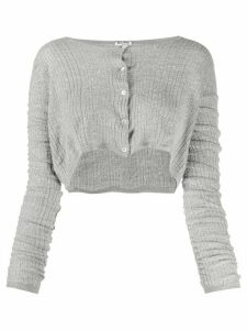 Miu Miu cropped cardigan - Grey