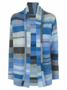 The Elder Statesman cashmere colour blocked cardigan - Blue