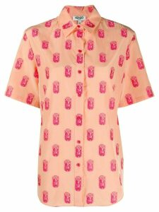 Kenzo geometric embroidered shirt - NEUTRALS