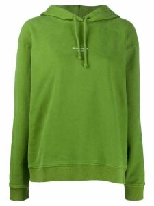 Acne Studios reverse-logo hooded sweatshirt - Green