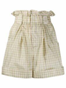 Fendi gingham check shorts - NEUTRALS