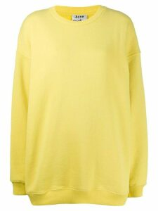 Acne Studios logo label sweatshirt - Yellow