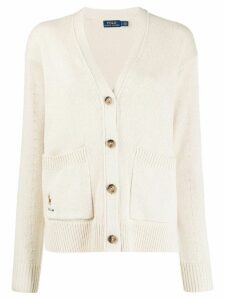Polo Ralph Lauren logo V-neck cardigan - NEUTRALS
