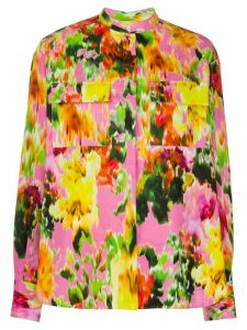 MSGM floral-print cotton shirt - PINK