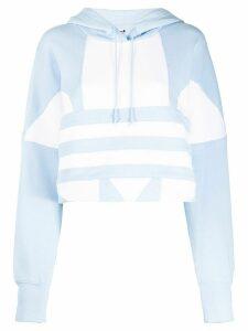 adidas cropped large logo hoodie - Blue