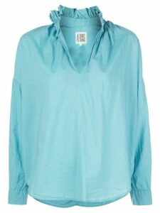 A Shirt Thing ruffled neck shirt - Blue