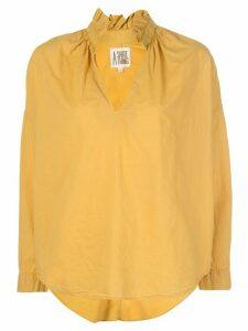 A Shirt Thing ruffled neck shirt - Yellow