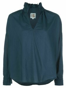 A Shirt Thing ruffled neck shirt - Blue