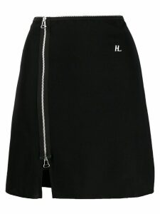 Helmut Lang zipped logo skirt - Black