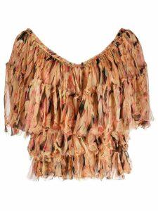 Mes Demoiselles V-neck floral print blouse - PINK