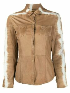 Giorgio Brato tie-dye leather shirt - NEUTRALS