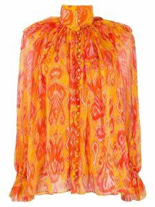 Zimmermann Brightside frilled blouse - ORANGE