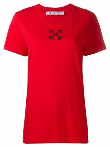 Off-White Arrows detail T-shirt - Red