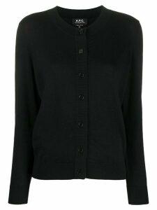 A.P.C. round neck cardigan - Black