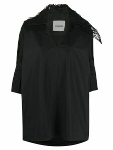 Jil Sander asymmetric-collar blouse - Black