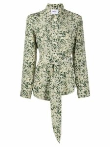 Nanushka Mara tie-waist shirt - Green