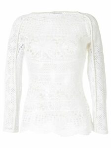Marine Serre crochet knitted top - White