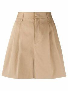RedValentino pleated A-line shorts - NEUTRALS