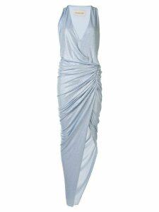 Alexandre Vauthier ruched asymmetric dress - Blue