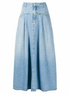 Société Anonyme denim high-waisted maxi skirt - Blue