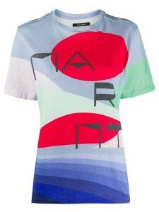 Isabel Marant abstract logo print T-shirt - Blue