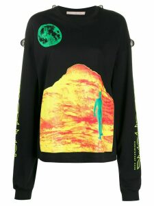 Christopher Kane Mountain Lady long-sleeve T-shirt - Black