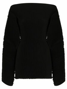Totême Azores pleated blouse - Black