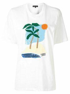 Markus Lupfer sequin-logo T-shirt - White
