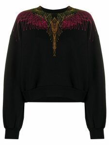 MARCELO BURLON COUNTY OF MILAN Wings sweatshirt - Black