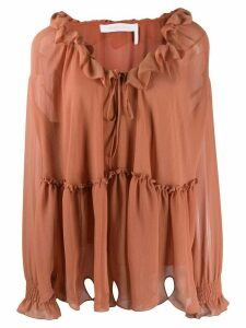 See by Chloé ruffle trim blouse - Brown