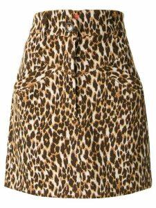Manning Cartell high-waisted leopard skirt - Brown