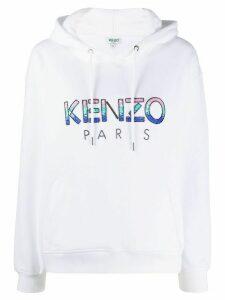 Kenzo beaded logo hoodie - White