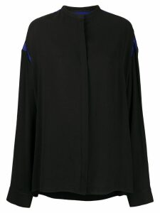 Haider Ackermann contrast panel silk shirt - Black