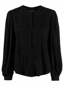 Isabel Marant lace-trimmed blouse - Black